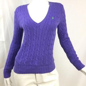 Ralph Lauren Sport M deep V-neck cable knit